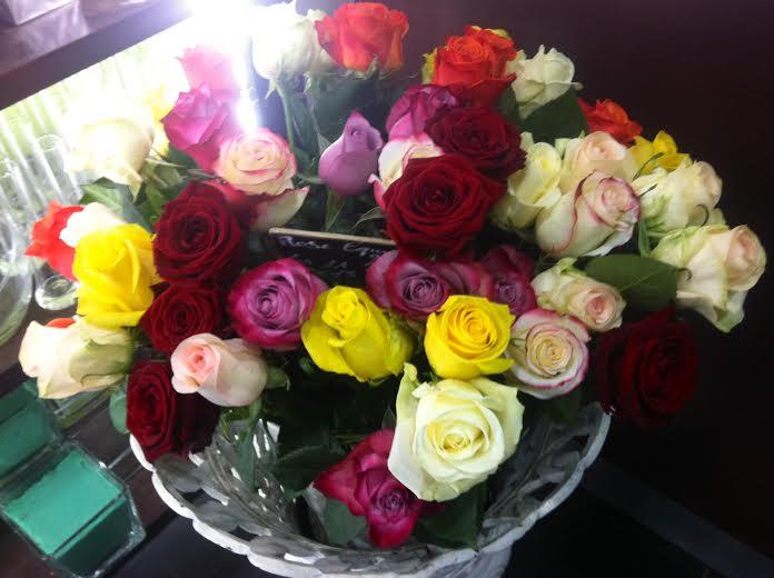 Rose stabilis e mazarinette - Au nom de la rose fleuriste ...